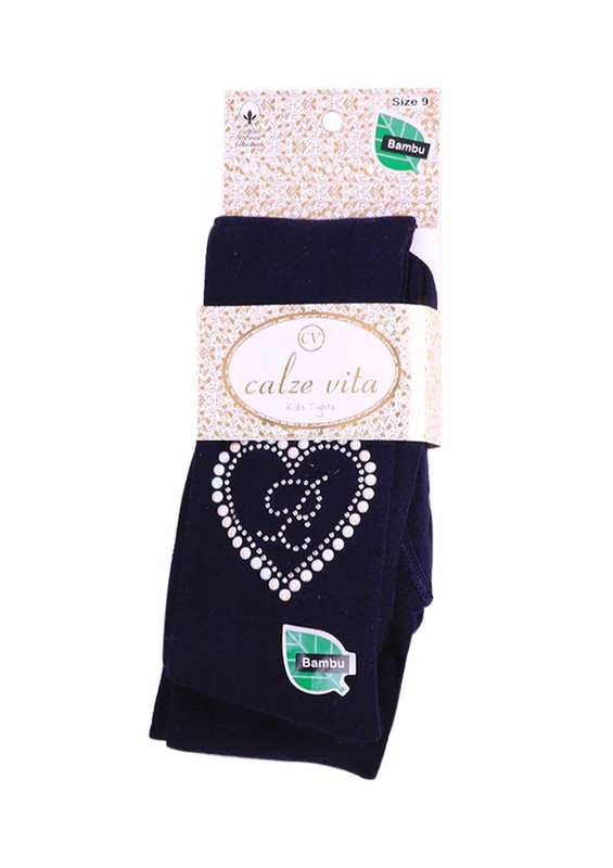 CALZE VİTA - Calze Vita Bambu Külotlu Çorap | Lacivert