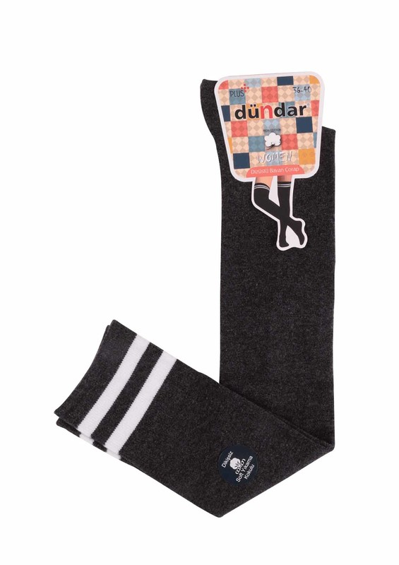 DÜNDAR - Dündar Desenli Dizüstü Çorap   Füme