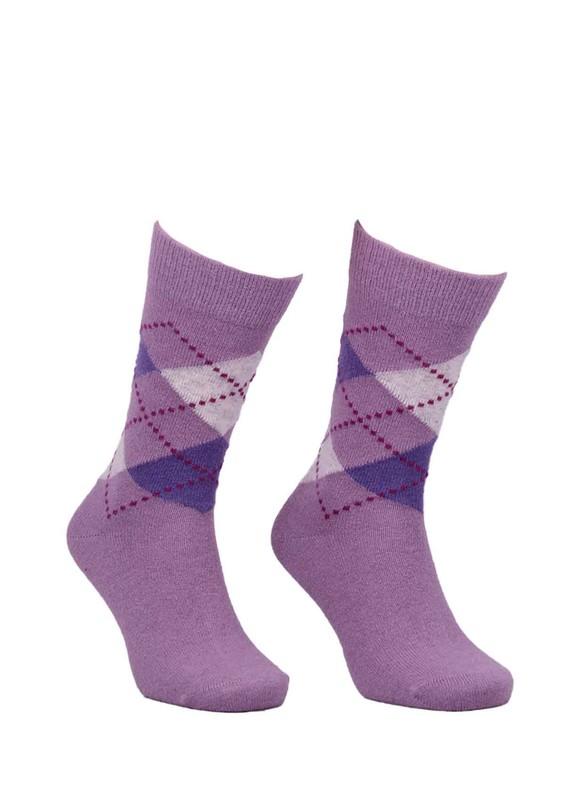 DÜNDAR - Dündar Dikişsiz Desenli Çorap 024 | Lila