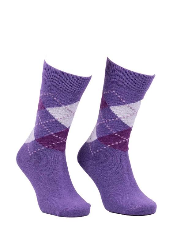 DÜNDAR - Dündar Dikişsiz Desenli Çorap 024 | Mor
