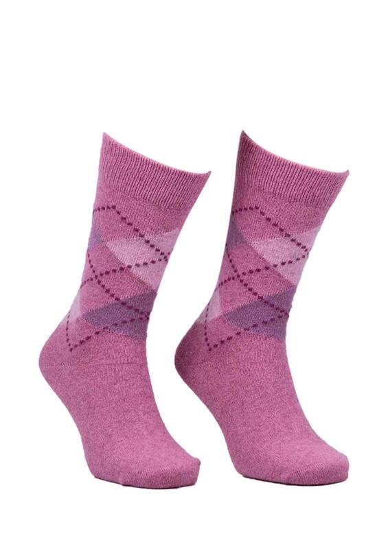 DÜNDAR - Dündar Dikişsiz Desenli Çorap 024 | Pembe