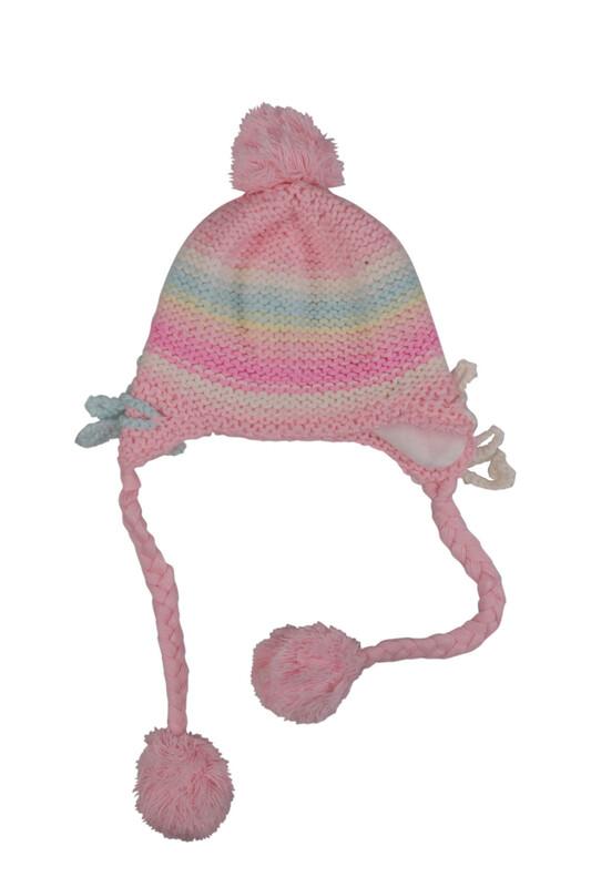 HİSAR - Ponponlu Kız Çocuk Bere | Bebe Pembe