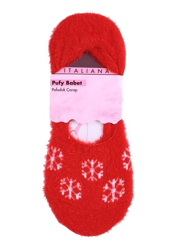 ITALIANA - İtaliana Kar Taneli Yün Kırmızı Çorap 214 | Kırmızı