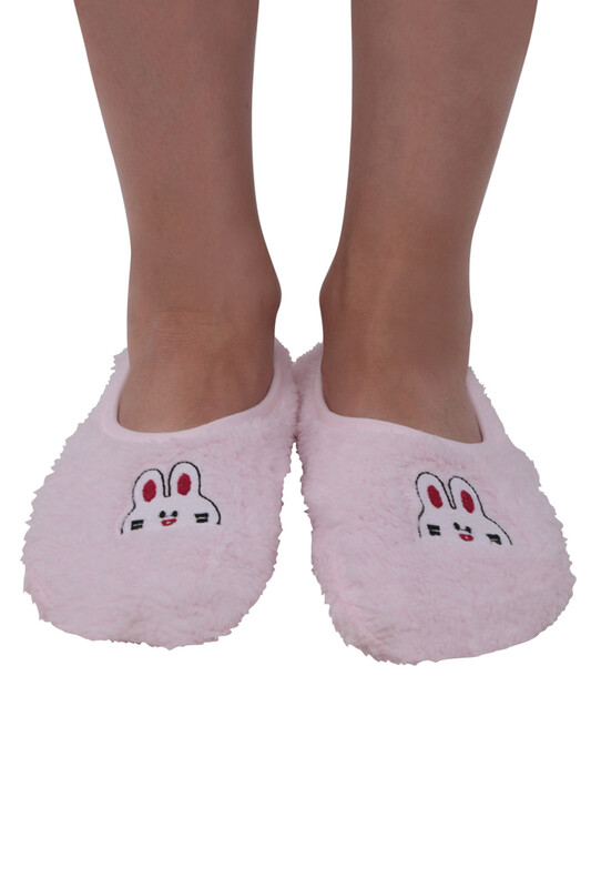 SAHAB - Welsoft Tavşan Nakışlı Kadın Patik Çorap 30600 | Bebe Pembe