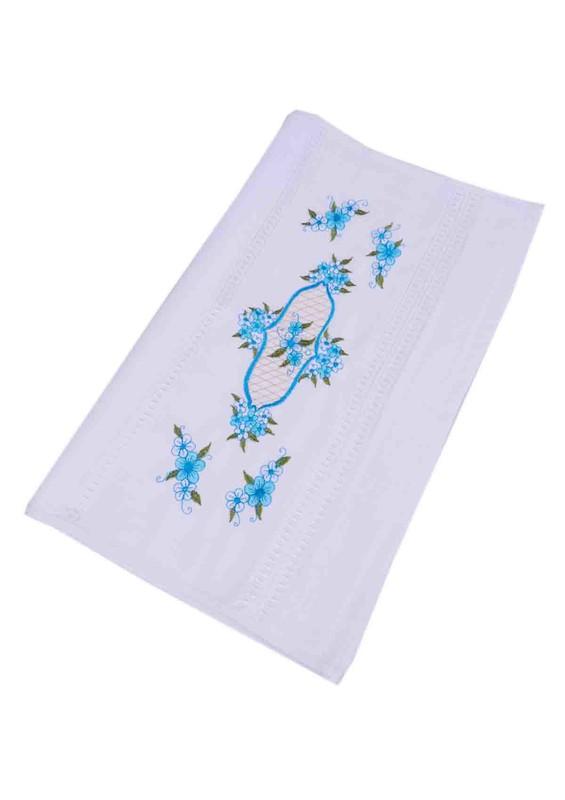 HAZANGÜLÜ - Hazangülü Kadife El ve Yüz Havlusu 8834   Mavi