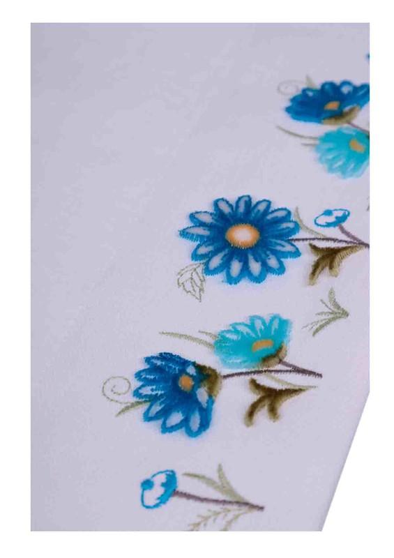 HAZANGÜLÜ - Hazangülü Tafting El ve Yüz Havlusu 6374 | Mavi