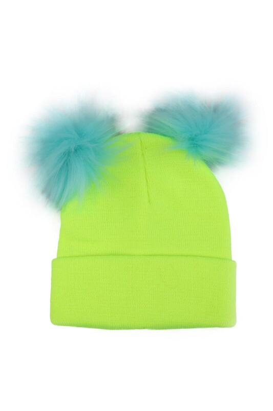 POYRAZ - Ponponlu Kız Çocuk Bere | Neon Yeşil