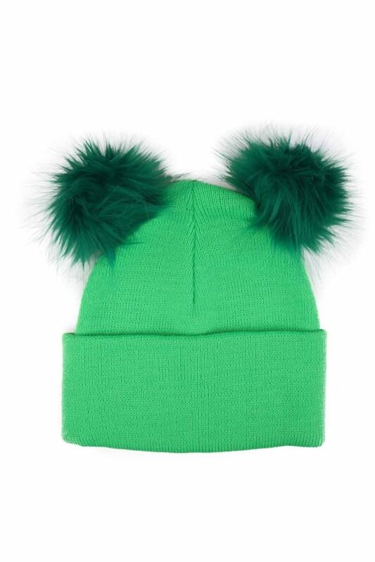 POYRAZ - Ponponlu Kız Çocuk Bere | Yeşil