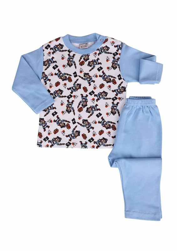 SİMİSSO - Simisso Pijama Takımı 073 | Mavi