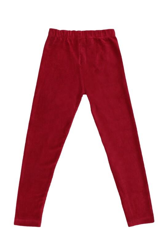 SİMİSSO - Simisso Çocuk Kadife Pantolon 1601 | Kırmızı