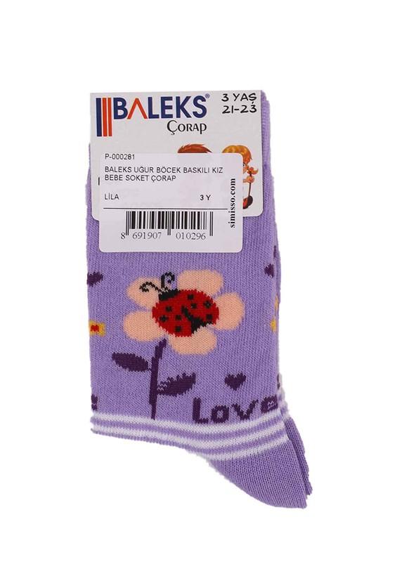 BALEKS - Baleks Soket Çorap 953 | Lila