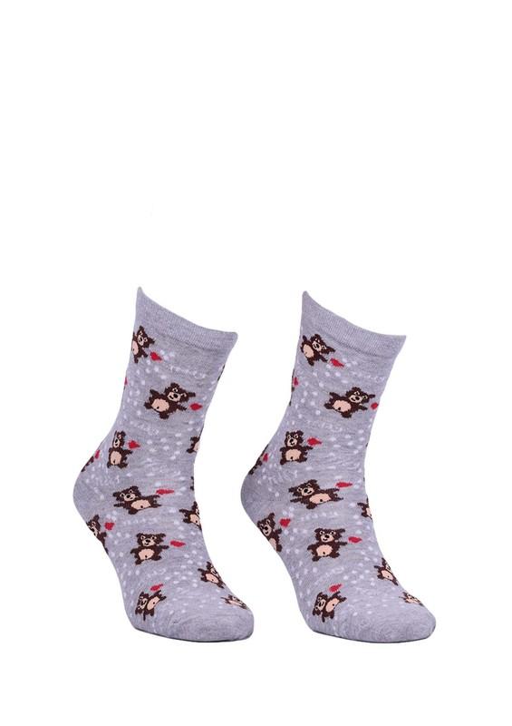 CALZE VİTA - Calze Vita Ayıcıklı Çorap 338 | Gri