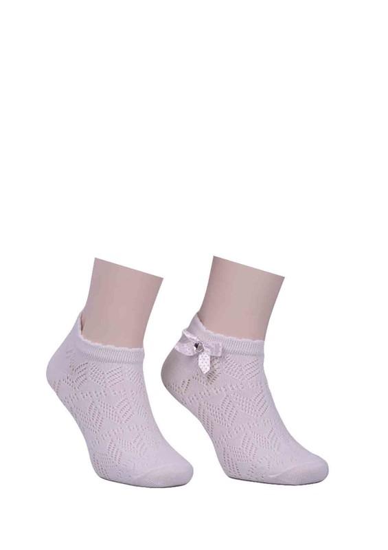 CALZE VİTA - Calze Vita Kurdeleli Çorap 347   Krem