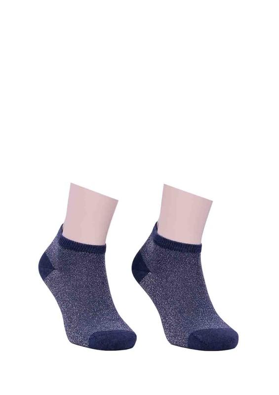 DÜNDAR - Dündar Desenli Soket Çorap 023   İndigo