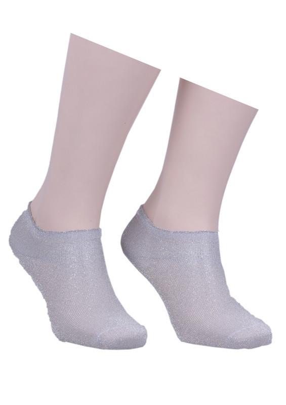 İLBAŞ - Desenli Soket Çorap 402 | Gri