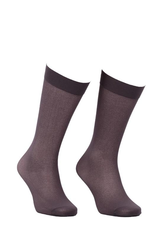 ITALIANA - İtaliana Opak Konfor Bantlı Dizaltı Çorap 1013   Gri