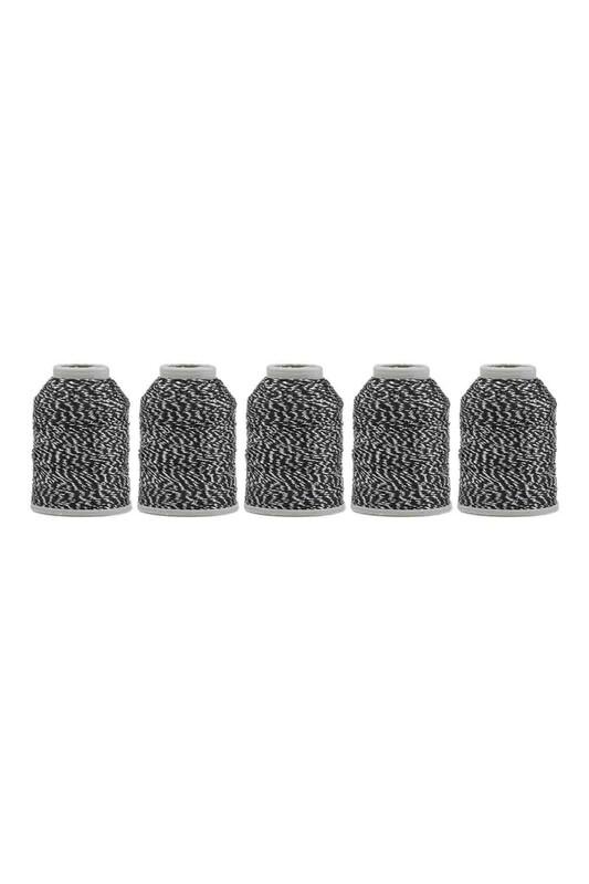KAPLAN - Kaplan Nakış Simi 6 Kat 20 gr 5'li   Beyaz Siyah