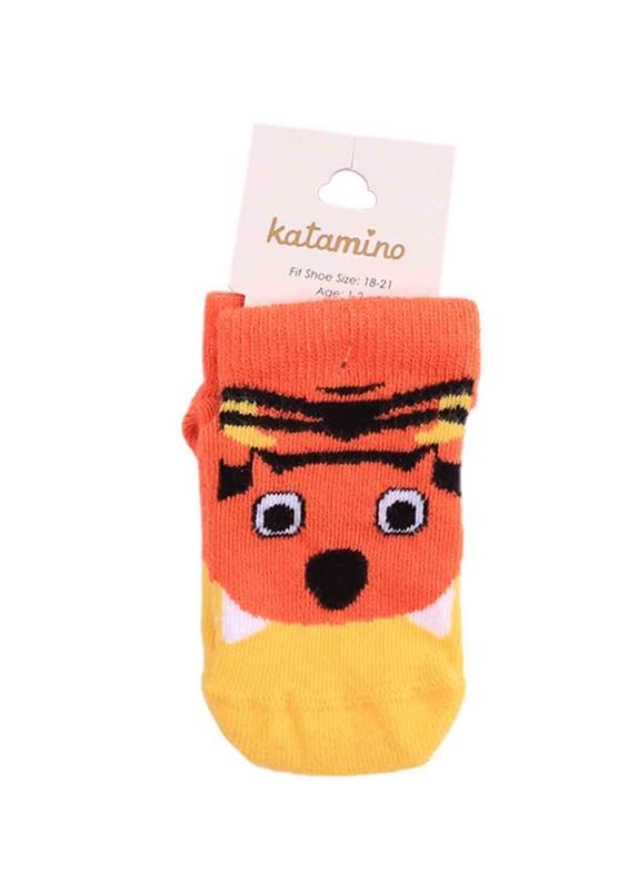 KATAMİNO - Katamino Patik Çorap 20051 | Turuncu
