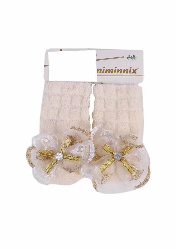 MİNİMİNNİX - Miniminnix Havlu Çorap 353 | Krem
