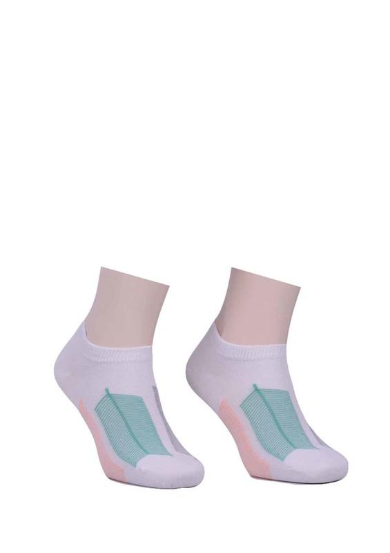 PAKTAŞ - Paktaş Desenli Patik Çorap 2536 | Beyaz