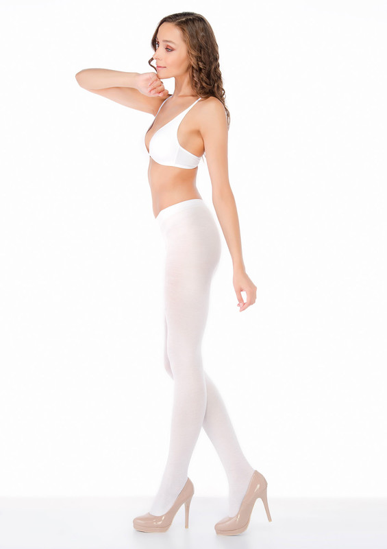 PENTİ - Penti Micro60 Cotton Külotlu Çorap | Beyaz