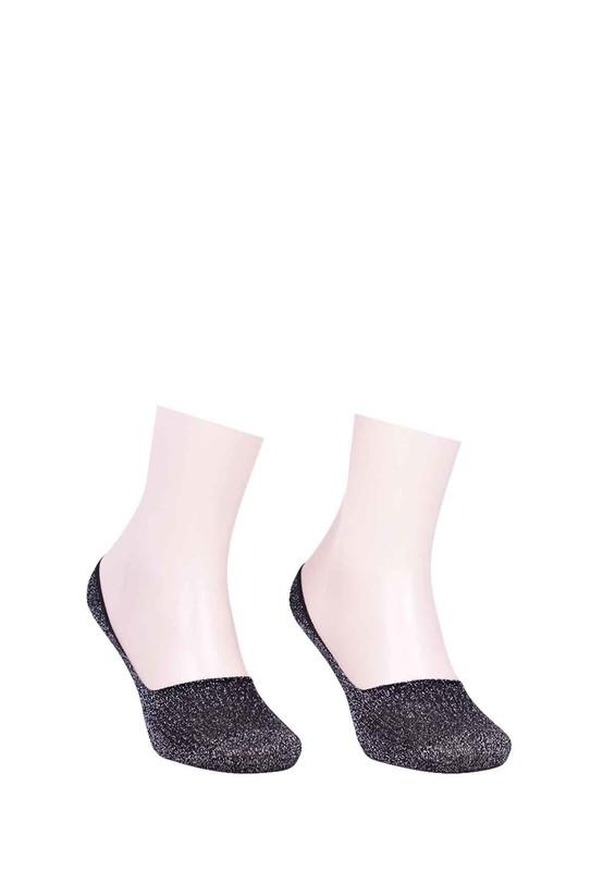 SARA DONNA - Desenli Patik Çorap 400 | Gri