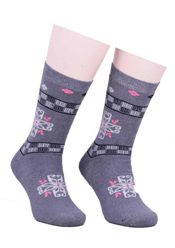 SİMİSSO - Arc Desenli Havlu Çorap 213 | Gri