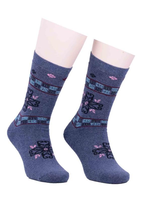 SİMİSSO - Arc Desenli Havlu Çorap 213   İndigo
