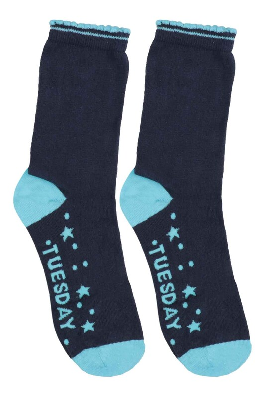 SİMİSSO - Desenli Çocuk Çorap 906 | Mavi