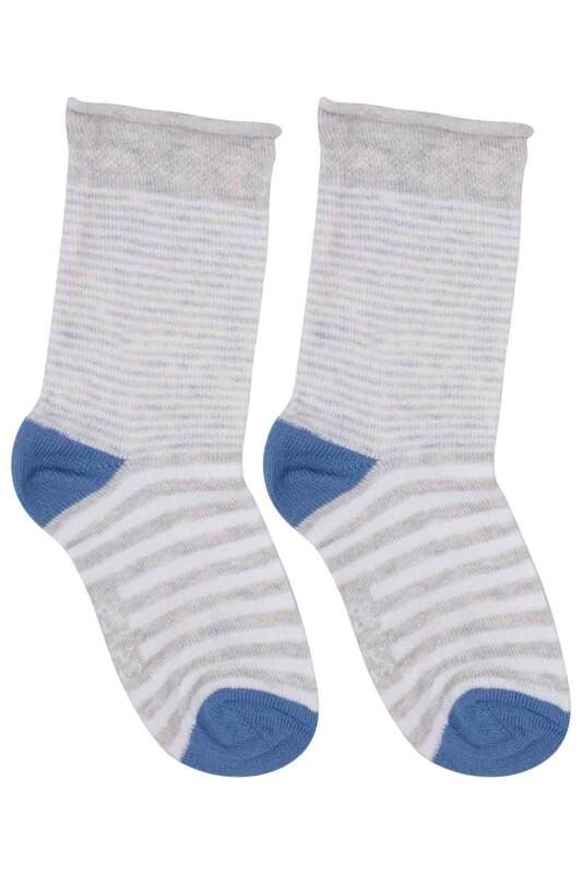 SİMİSSO - Desenli Çocuk Çorap 911 | Gri