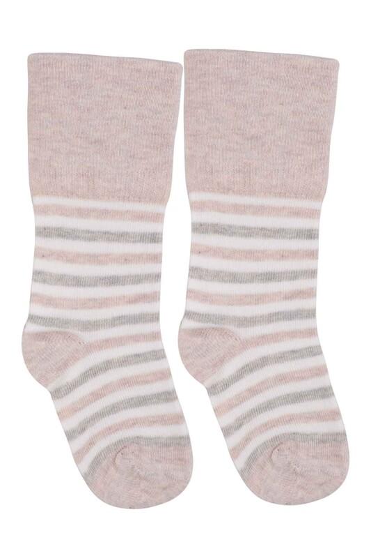 SİMİSSO - Desenli Çocuk Çorap 913 | Krem