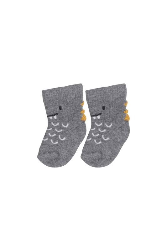 SİMİSSO - Desenli Çocuk Çorap 914 | Gri