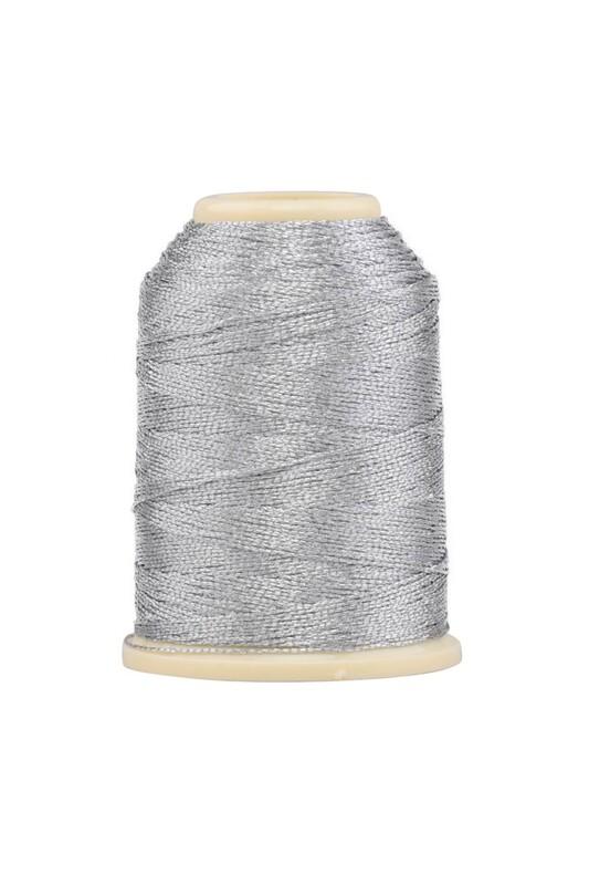 SİMİSSO - Polyester Nakış Simi 3 Kat 15 gr. 5 li Gümüş