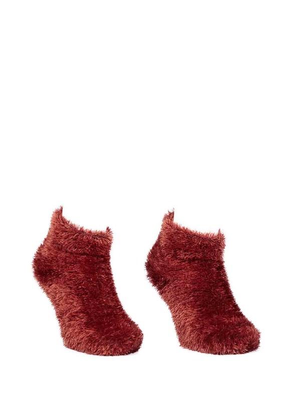 SUVE GOLD - Püsküllü Peluş Çorap 116   Turuncu