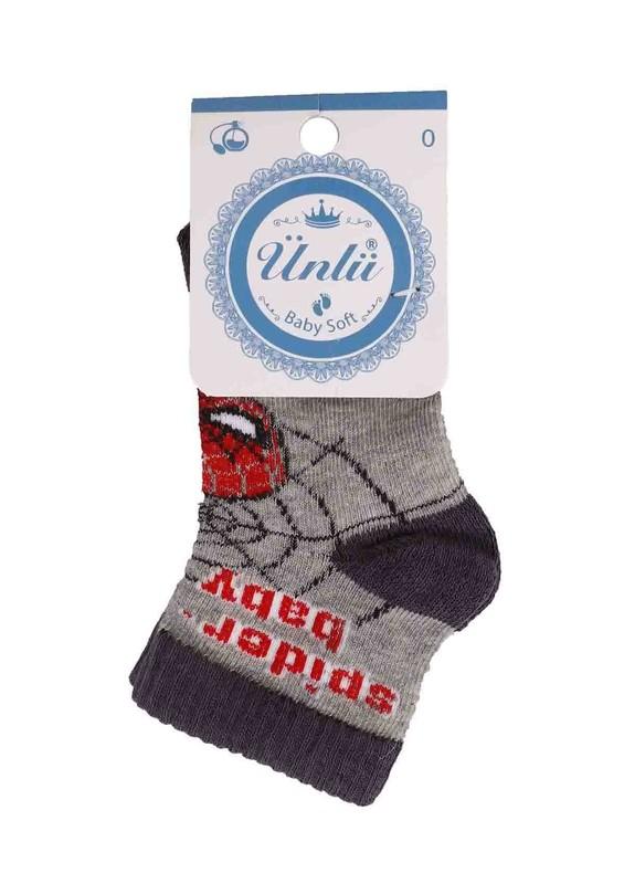 ÜNLÜ BABY - Ünlü Baby Çorap 114   Gri