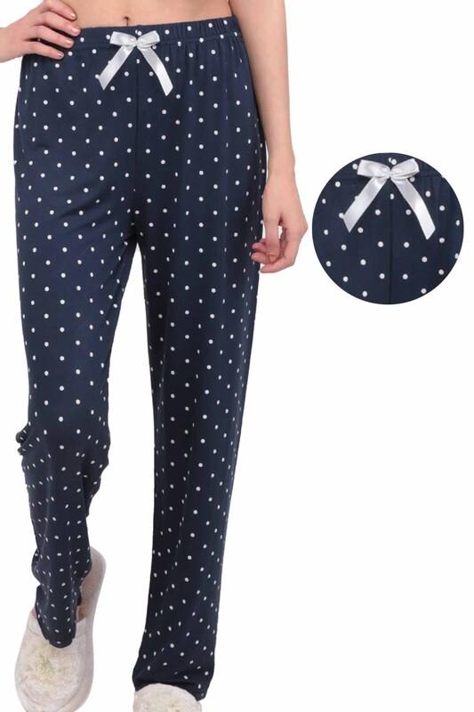 SİMİSSO - Benekli Kadın Pijama Altı | Lacivert