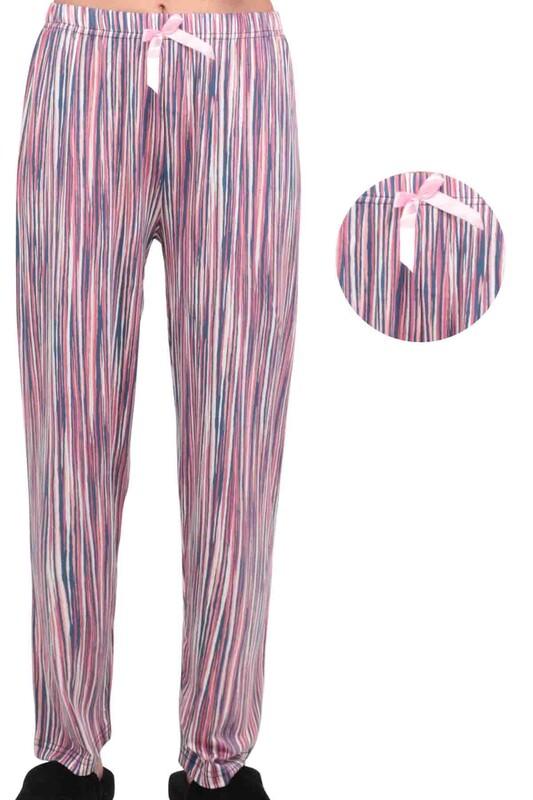 SİMİSSO - Desenli Kadın Pijama Altı 5655 | Pembe