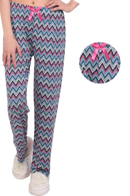 SİMİSSO - Desenli Kadın Pijama Altı 8687 | Mavi