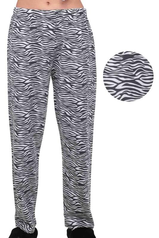 SİMİSSO - Zebra Desenli Kadın Pijama Altı | Siyah