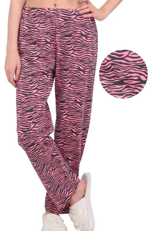 SİMİSSO - Zebra Desenli Kadın Pijama Altı | Pembe