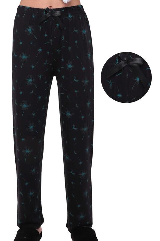 SİMİSSO - Desenli Kadın Pijama Altı   Siyah