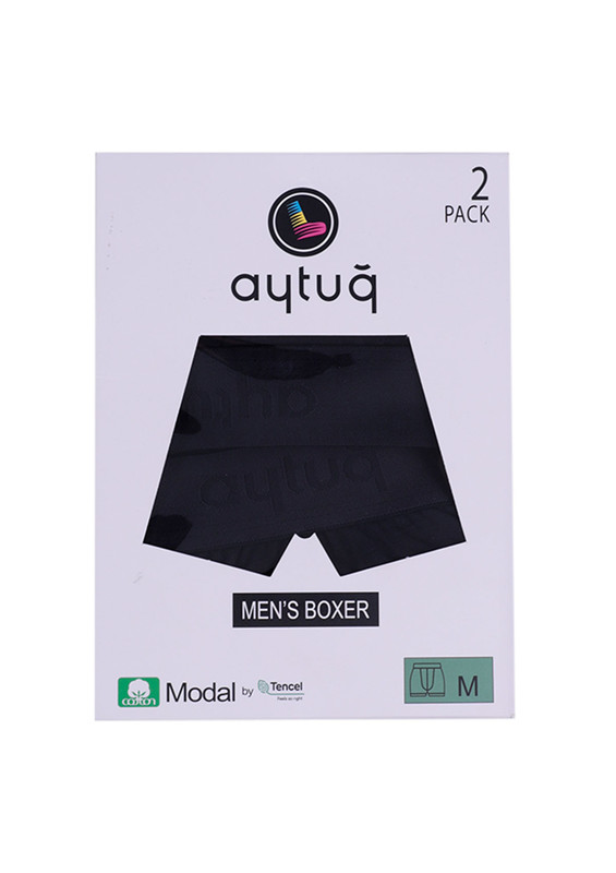 AYTUĞ - Aytuğ Modal Boxer 2'li   Siyah