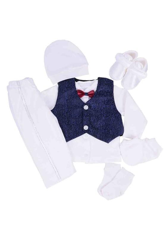 BABY TİNY - Baby Tiny Zıbın Seti 705   Beyaz