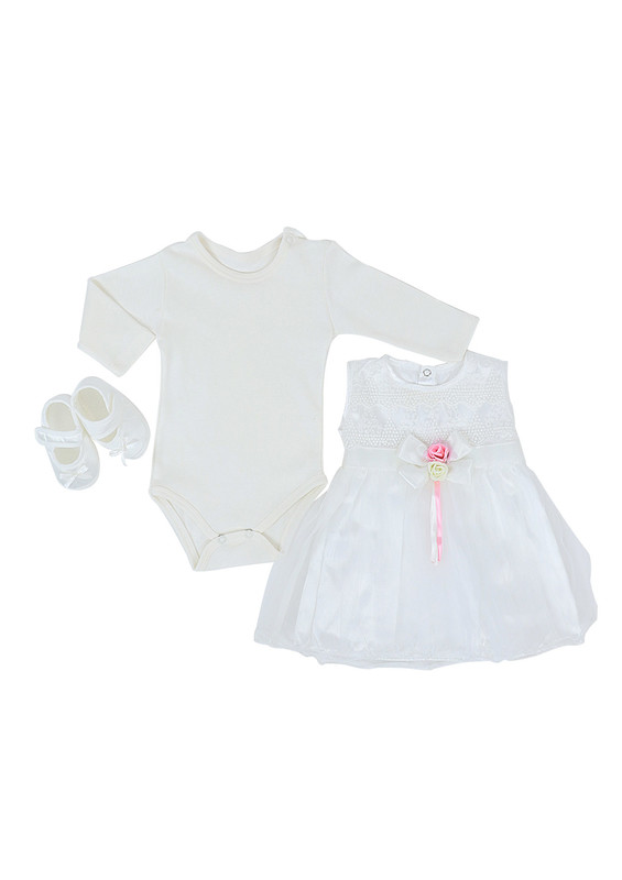 BABY TİNY - Baby Tiny Bebek Takımı 401 | Beyaz
