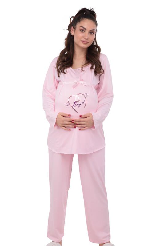 BERRAK - Berrak Kalpli Hamile Pijama Takımı 392   Pembe