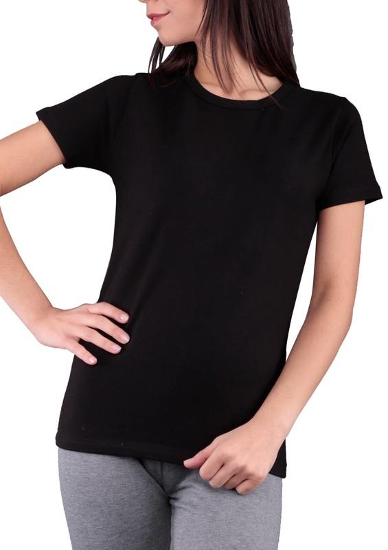 MARY LUX - Mary Lüx Termal T-Shirt 527   Siyah