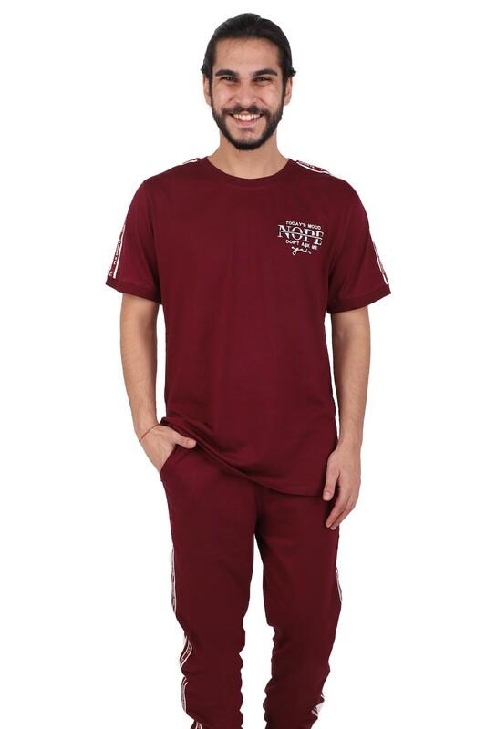 POLEREN - Poleren Pijama Takımı 6042   Bordo