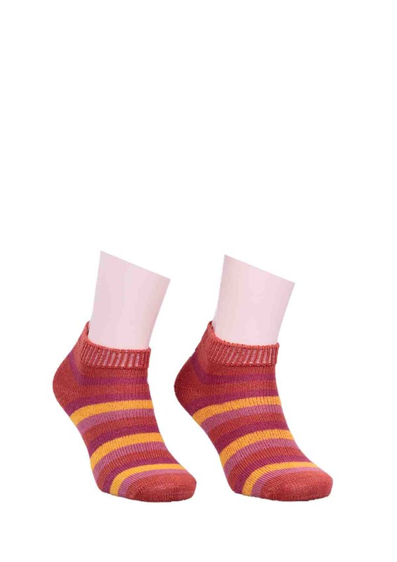 DİBA - Diba Desenli Yün Çorap 213 | Turuncu