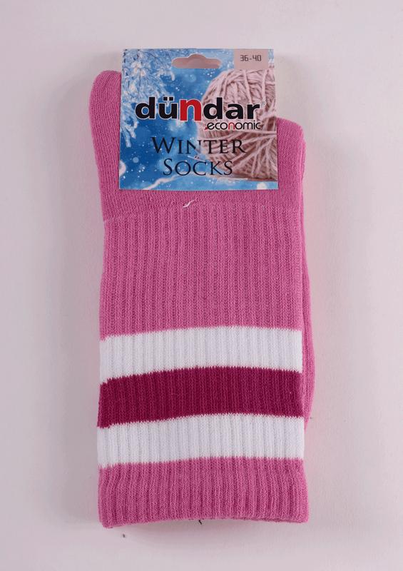 DÜNDAR - Dündar Desenli Havlu Çorap 8504 | Pembe