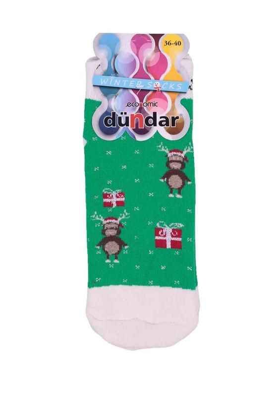 DÜNDAR - Dündar Geyikli Havlu Soket Çorap 009 | Yeşil